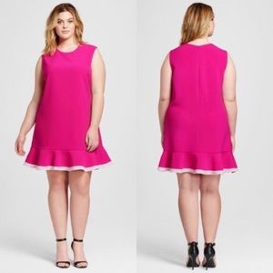 Dresses & Skirts - NWT Victoria Beckham fuchsia dress SZ 3X (8-36)